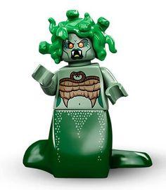 Lego Mini Figure Green Crocodile Alligantor Scare your Mini Figures to Death
