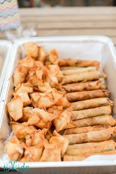 Lumpia is like a Filipino version of an egg roll (but so much better, in my opinion!).  It's an easy recipe, and can be done ahead of time and frozen, and can be either fried or baked.  Great for parties or even just quick homemade freezer meals.