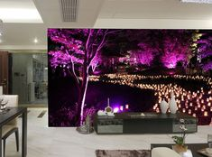 Photo Wallpaper MURAL POSTER Candle Night Lights River WALL DECOR ROOM