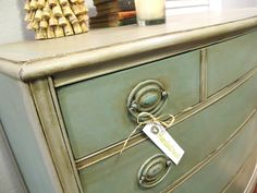 ASCP-Paris Grey and Provence with a French Linen wash. clear and dark wax