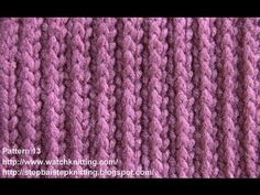 (Striped) - Simple Patterns - Free Knitting Patterns Tutorial - Watch Knitting - pattern 13