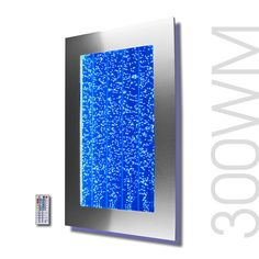 "30"" Bubble Wall Mount Aquarium LED Lighting Indoor Panel Water Feature Fountain #Bubblewall"