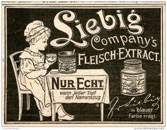 Original-Werbung/Inserat/ Anzeige 1899 - LIEBIG'S FLEISCH-EXTRACT - ca. 70 x 90 mm