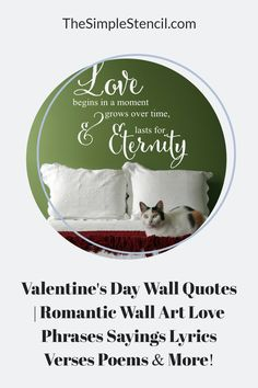 100's of wall decal designs to add a romantic touch to your master bedroom decor. Easy to install, looks painted on but 100% removable when you're ready for a change. Customize your favorite phrase online to match your decor and space perfectly. Preview before you buy. High quality materials, made in the USA, since 2002. Satisfaction guaranteed. #walldecor #decals #valentinesday #vday #valentinesdaygifts #romanticgifts #romanticdecor #romanticbedrooms #giftideas #roomdecor #walldecor #decals Valentines Gifts For Him, Valentines Day, Apartment Living, Living Room, Master Bedroom, Bedroom Decor, Vinyl Wall Quotes, Love Phrases, Letter Wall