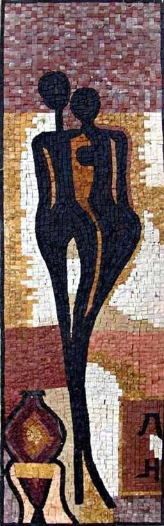 Mosaic Mural - Figurative Silhouettes