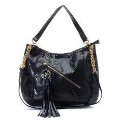 2ec503ad843 Michael Kors Charm Tassel Convertible Shoulder Bag Black Python Michael Kors  Tote, Michael Kors Bags
