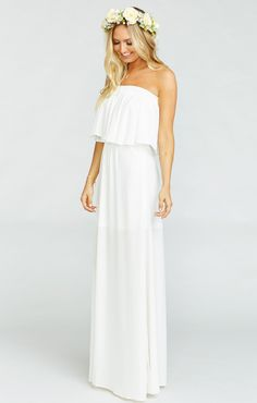 Hacienda Maxi Dress ~ Ivory Crisp. Mumu Bridesmaid DressesWedding DressesSimple  White DressMumu WeddingTube ... abca80f0b931