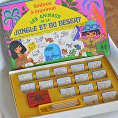 jeu Timbres à imprimer Jungle vintage - deco-graphic.com