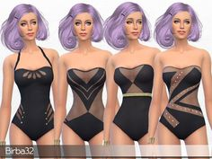 The Sims Resource: Swimsuit Elegance by Birba32 • Sims 4 Downloads