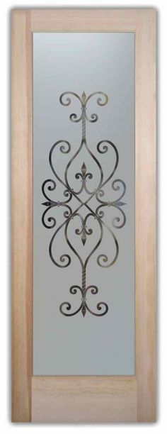 Cordoba Pantry Door - Looking for the perfect pantry door to suit your style? Mix & match your border, design and font style! Quality sandblast designs.