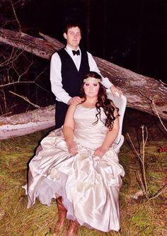 Beautiful married couple! #nightwedding #bridalmakeup #weddingphotography #bridalhair #bohemian #pinkpewter #headband #handsomegroom #weddinghair #weddingmakeup #brideandgroom #beautifulbride #longhair #bridalphotography   #weddinginlove #rusticwedding #weddinginnature #bridalcowgirlboots #vintageweddingphotography
