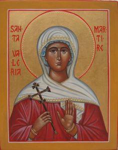 St. Valeria - cristina capella icons Orthodox Christianity, Mona Lisa, Saints, Religion, Princess Zelda, Baseball Cards, Artwork, Movie Posters, Fictional Characters