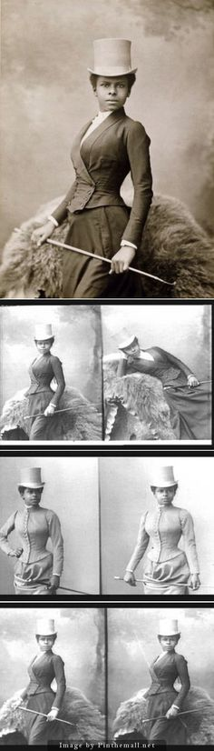 All the shots I have seen of Equestrian Selika Lazevski as photographed by Felix Nadar in 1891 - created via http://pinthemall.net
