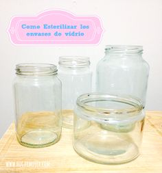 Antes de rutilizar los envases para guardar alimentos asegurate de esterilizarlos #ecotips #reusar #reciclar #frascos- envases de vidrio