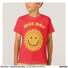 Nice Day - Smiling Sun Kids& T-Shirt. T-Shirt - summer gifts season diy template ideas T Shirt Kids, Summer Gifts, Summer Of Love, Good Day, Fitness Models, Sun, T Shirts For Women, Unisex, Children
