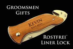 Engraved Pocket Knife- 2 Personalized Laser Engraved Folding Serrated Knives, personalized groomsmen gift, wedding favor, pocket knife
