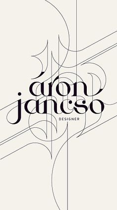 áron jancso - beautiful type treatment