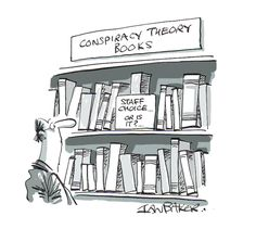 Mystery Fanfare: Cartoon of the Day: Conspiracy Theory Books