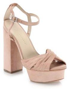 Loeffler Randall Arbella Suede Twist Platform Sandals