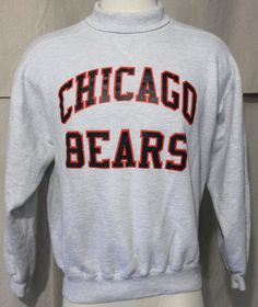VTG Chicago Bears Sweatshirt NFL Football Russell Athletic USA Gray Size Large #RussellAthletic #ChicagoBears