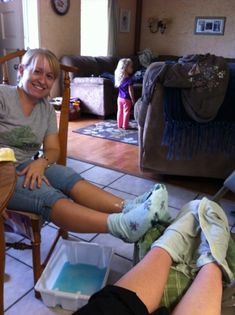 listerine and shaving cream foot treatment . I used socks soaked in Listerine and hot water, sprayed shaving cream in the sock works great.!!!
