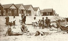 Simpler times: Holiday makers at Jaywick Sands, Essex, enjoy resting in deckchairs, with beach huts in the background Rare Photos, Vintage Photographs, Old Photos, Vintage Images, British Beaches, British Seaside, Uk Tourism, Seaside Holidays, Seaside Resort