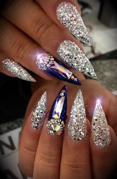 nail designs and colors:check latest spring nail design and colors you will love spring nail designs nail designs for short nails,spring nail designs nail designs for tipsspring nails colors,spring nails nail colors nail art 2019 Dope Nails, Glam Nails, Fancy Nails, Bling Nails, Bling Wedding Nails, Stiletto Nails, Fabulous Nails, Perfect Nails, Gorgeous Nails