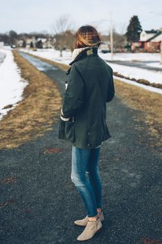Barbour Jacket Skinny and Jeans for fall by Jess Kirby