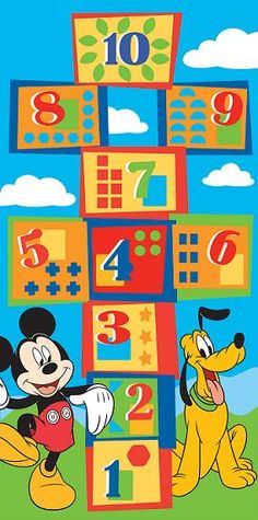 Disney Mickey Mouse And Friends Numbers Wallpaper Mural