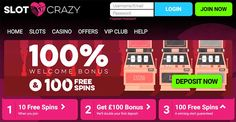 Here we have shared a quick review of Slot Crazy 10 Free Spins, where you find each and every important thing to know about the casino site. http://www.onlinebingoz.com/reviews/slot-crazy/