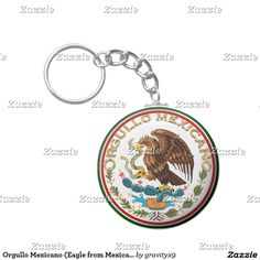 Orgullo Mexicano (Eagle from Mexican Flag) Basic Round Button Keychain #gravityx9