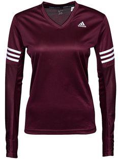 Rsp Ls - Adidas Sport Performance - Maroon - Topper - Sportsklær - Kvinne - Nelly.com
