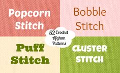 58 Crochet Afghan Patterns Using the Popcorn Stitch, Bobble Stitch, Puff Stitch, and Cluster Crochet Stitch | Incorporate these fun, textured stitches into your next crochet afghan project!
