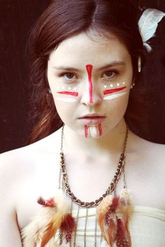 Pale Indian. Neat face paint.