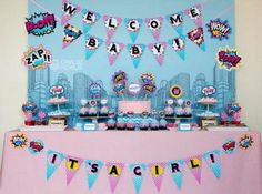 mesa doces cha de bebe