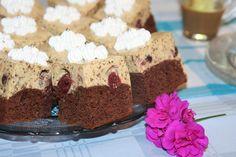 Prajitura cu rom si visine Romanian Desserts, Romanian Food, Romanian Recipes, Sweets Recipes, Cake Recipes, Cooking Recipes, Food Cakes, Tiramisu, Deserts