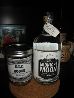 what to get the man who has everything?  well, mine liked this!  purchased the moonshine over the internet and made the jar label myself.