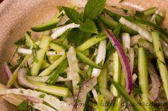 Cucumber Fennel Mint Salad #mint #cucumbermint #fennelmint