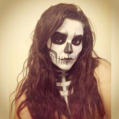 Sticks and Stones. Skull makeup by Whitney A. Skull Makeup, Sticks And Stones, Halloween Face Makeup