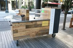 The Lovejoy Bakers Coffee Cart.. a little  kiosk can  have a nice organic look! popuprepublic.com