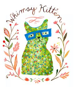 katie daisy. watercolor and acrylic  I like the font, but not sure if it would be visible enough. Also colors, design.