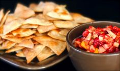 Fruit Salsa with Cinnamon and Sugar Chips.