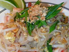 I always seem to fool myself into thinking that pad thai is a good weeknight meal. Then I'll get home from work and start prepping ingredients, and then I'm prepping and prepping and finally asking. Kelp Noodles, Rice Noodles, America's Test Kitchen Cookbook, American Test Kitchen, Shrimp Pad Thai, Cooks Illustrated Recipes, Good Food, Yummy Food, Asian Recipes