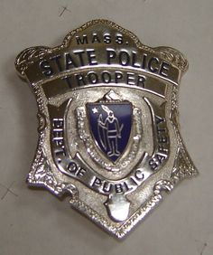 Classic Police Badges | Vintage Massachusetts State Police Badge