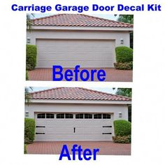 This cottage garage door can be a very inspirational and glorious idea cottageg .This cottage garage door can be a very inspirational and glorious idea cottagegaragedoorCarriage House Style Vinyl Garage Door Decal Kit Faux Windows Double Garage Door, Faux Window, Garage Decor, Front Door Makeover, Garage Doors, Door Decals, Garage Door Types, Single Garage Door, Doors