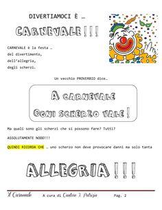 Percorso didattico - Carnevale | PDF to Flipbook Italian Language, Teaching Tools, Carnival, Bullet Journal, Teacher Tools, Teaching Aids, Carnavals