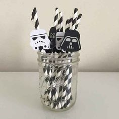 star wars party straws