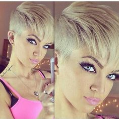 Bold Blonde !! Love the cut...