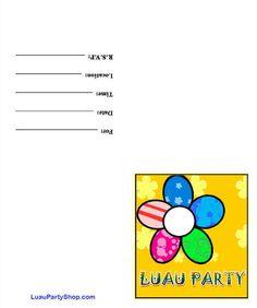 hawaiian party invitations - Google Search