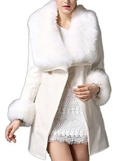 SALE PRICE  $65.29 - The wool material is warm and fashion. Many people are in favor of its soft material. You will feel warm and cozy in cold winter. Removable fur collar adds more charming details to your appearance and keep you warm; Its removable fur cuff design will show your elegant temperament and make you beautiful; Exquisite lining is cozy and comfortable; It's made elegant solid...